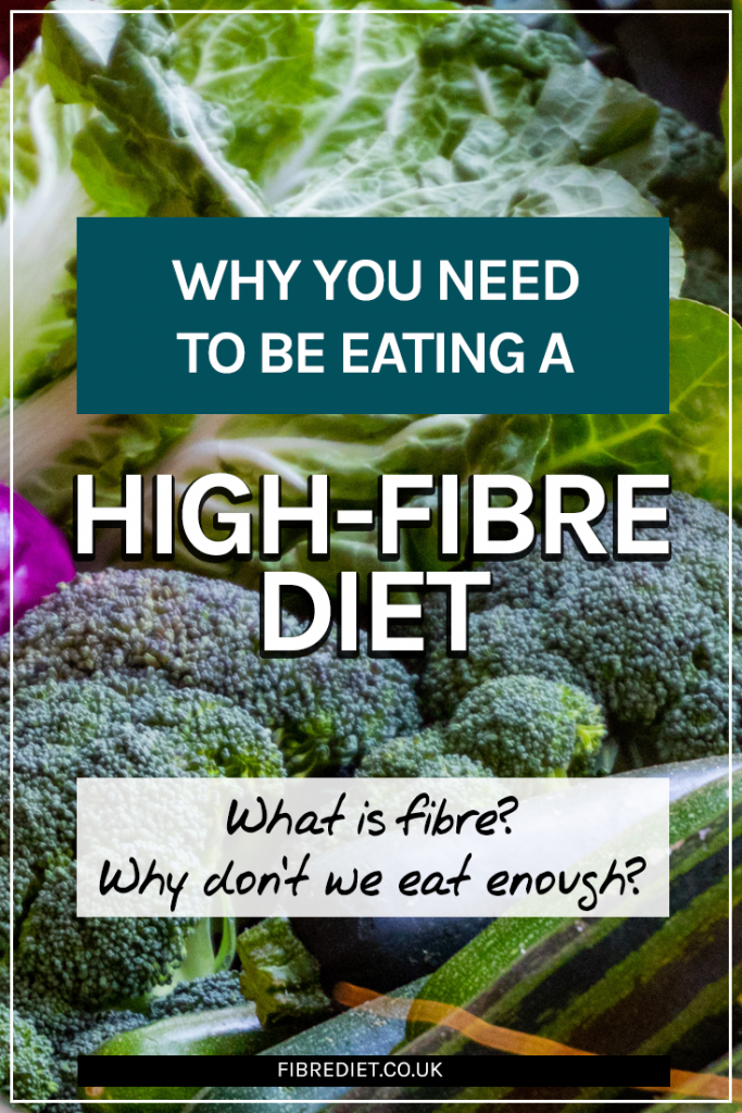 What are the benefits of high-fibre foods? Pinnable image.